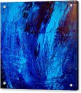 Blue Yoga Acrylic Print
