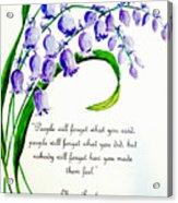 Bluebell  Acrylic Print