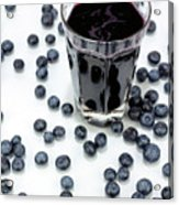 Blueberries And Blueberry Juice Acrylic Print