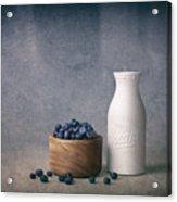 Blueberries And Cream Acrylic Print