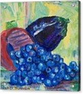Blueberries and Eggplant Acrylic Print