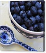 Blueberries And Spoon  Acrylic Print