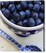 Blueberries In Polish Pottery Bowl Acrylic Print