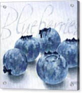 Blueberries Acrylic Print