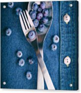 Blueberries On Denim II Acrylic Print