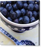 Blueberries With Spoon Acrylic Print