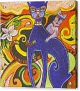 Blueberry Cat Acrylic Print