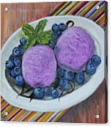 Blueberry Ice Cream Party Acrylic Print