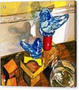 Bluebirds Of Happiness Acrylic Print