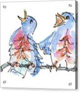 Bluebirds Singing A New Song Bd002 Acrylic Print