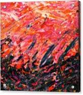 Bluegrass Sunrise - Crimson B-right Acrylic Print