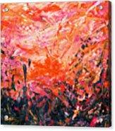 Bluegrass Sunrise - Crimson A-left Acrylic Print