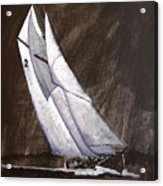 Bluenose At Night Coming Acrylic Print