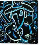 Blues Face Acrylic Print