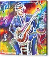 Blues Man Acrylic Print by M C Sturman