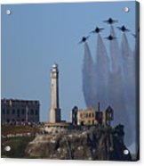 Blues Over Alcatraz Acrylic Print