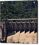 Bluestone West Virginia Dam Panorama Acrylic Print