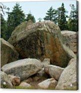 Bluff Lake Ca Boulders 3 Acrylic Print
