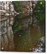 Bluff Reflections Buffalo River Acrylic Print by Timothy Jones