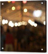 Blurred Delhi Street Scene At Night Acrylic Print