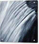 Blurred Detail For Falling Water Acrylic Print