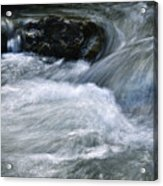 Blurred Detail Of A Mountain Stream Acrylic Print