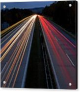 Blurred Lights Lines On Highway Acrylic Print
