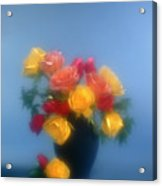 Blurred Roses In The Blue Acrylic Print