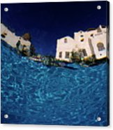 Blurred View Of A Hotel From Underwater Acrylic Print