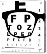 Blurry Eye Test Chart Acrylic Print