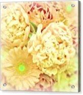 Blush Floral Bouquet Acrylic Print