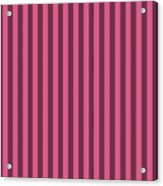 Blush Pink Striped Pattern Design Acrylic Print