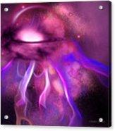 Blushing Nebula Acrylic Print