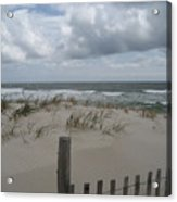 Blustery Day At Beach Acrylic Print