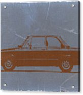 Bmw 2002 Orange Acrylic Print