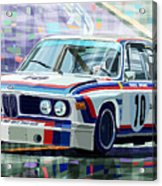 Bmw 3 0 Csl 1st Spa 24hrs 1973 Quester Hezemans Acrylic Print by Yuriy  Shevchuk