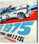 Bmw 3.0 Csl Sebring 1975 Peterson Redman Acrylic Print
