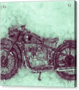 Bmw R32 - 1919 - Motorcycle Poster 3 - Automotive Art Acrylic Print