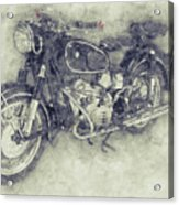 Bmw R60/2 - 1956 - Bmw Motorcycles 1 - Vintage Motorcycle Poster - Automotive Art Acrylic Print