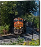 Bnsf Coming Around The Curve Acrylic Print