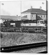 Bnsf Locomotive On Ns 192 Bw Acrylic Print