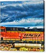 Bnsf Train Hdr Acrylic Print
