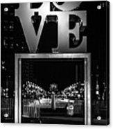 Bnw Philly Love 0218c Acrylic Print