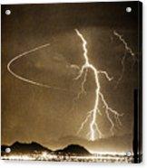 Bo Trek Lightning Art Acrylic Print