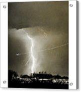 Bo Trek Lightning Bw Fine Art Poster Print Acrylic Print