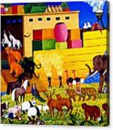 Boarding Noah's Ark At Night Acrylic Print