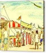Boardwalk Artshow Virginia Beach Acrylic Print