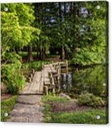 Boardwalk Bridge Maymont Japanese Garden Acrylic Print