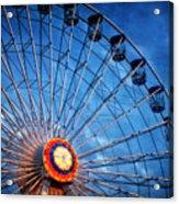 Boardwalk Ferris Wheel At Dusk Acrylic Print