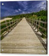 Boardwalk In Color Acrylic Print